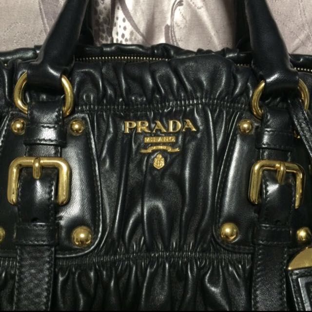 65e630ed96567a ... canada authentic prada nappa gaufre nero tu bag luxury bags wallets on  carousell be378 14ef0