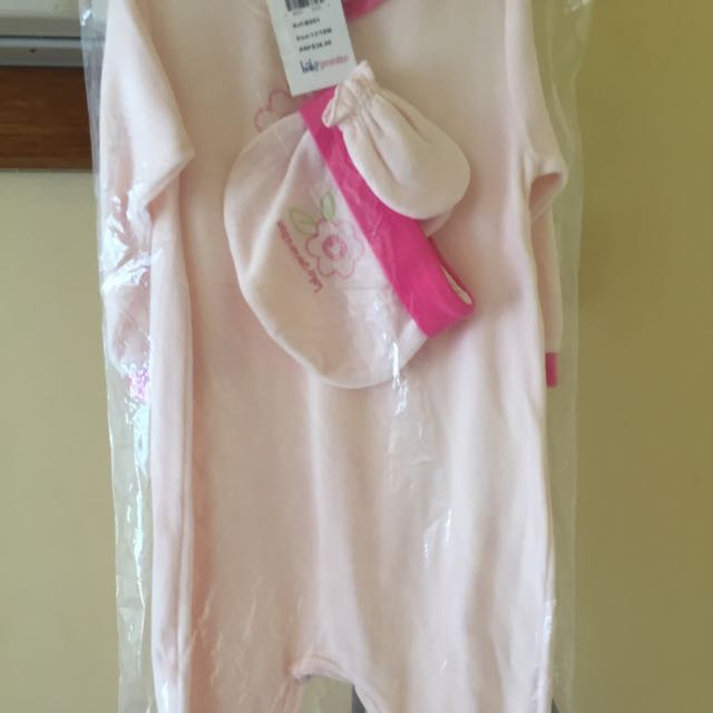Baby  Generation Girls Onesie With Bonnet And Mittens