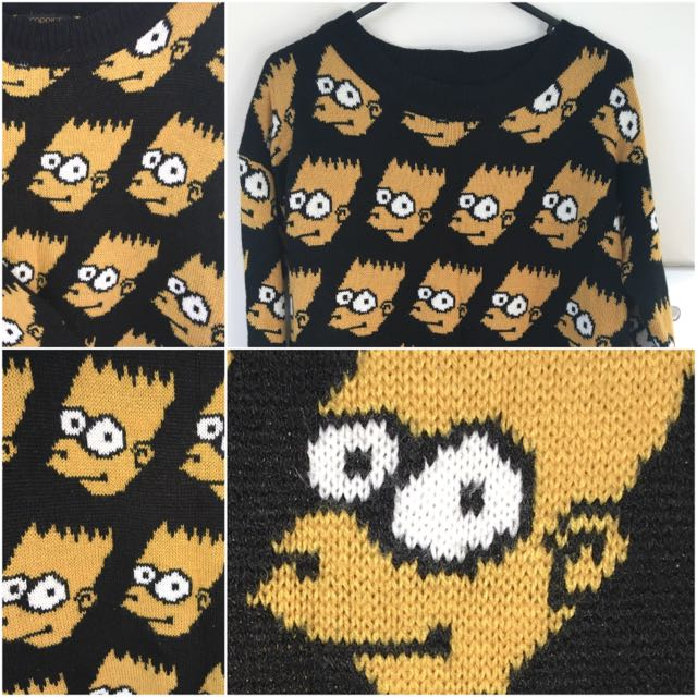 Bart Simpson Knitted Jumper