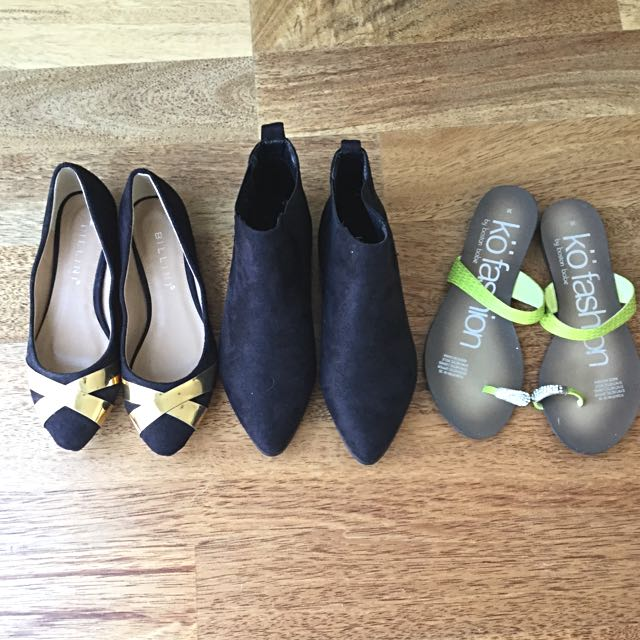 Billini Flats, Ankle Boots And Dress Thongs