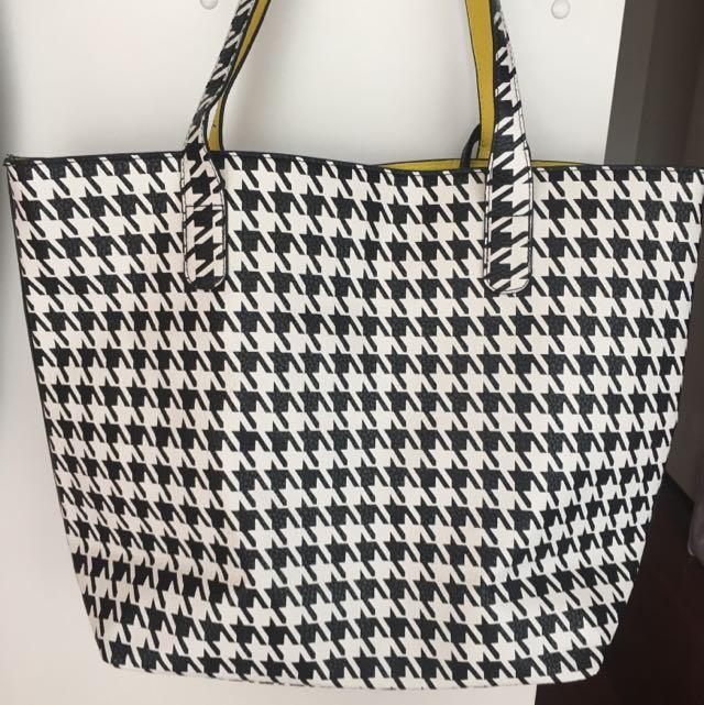 Black And White Beach Bag