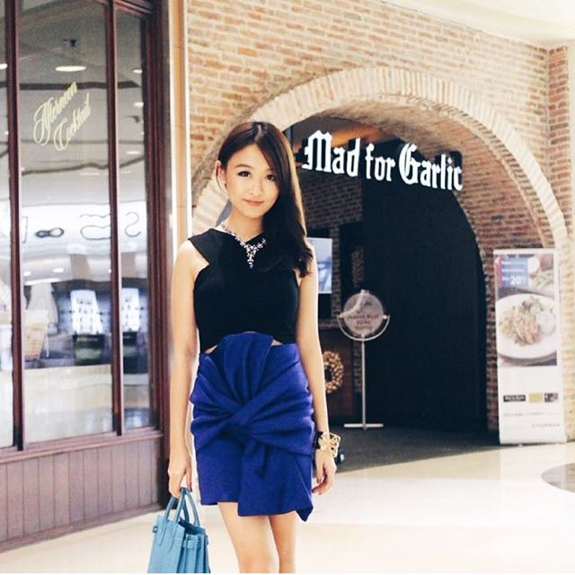 Blue Bandage Ribbon Skirt