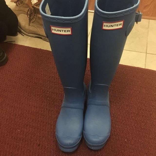 Blue Hunter Boots