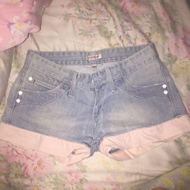 Celana Hotpants Pink Jeans
