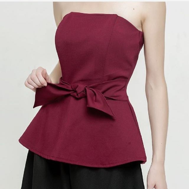 Cloth Inc Maroon Tube Top