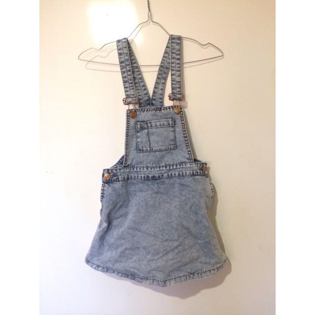 Denim Overalls / Skirt