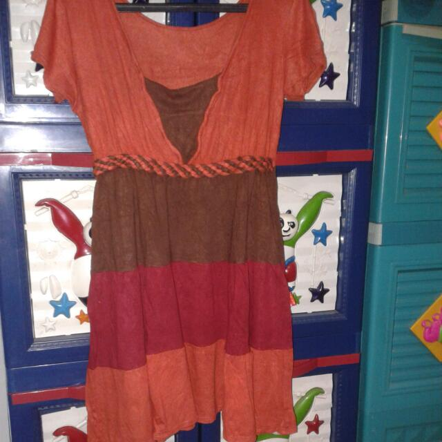 Dress Warna Orenge