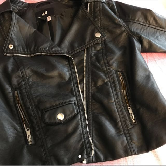 H&M Leather Jacket Small