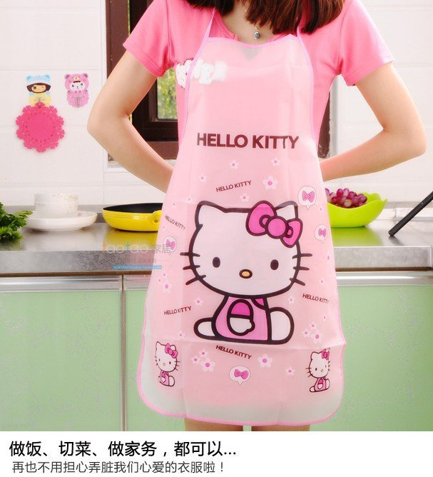 Kitty 圍裙/防水防油圍裙/工作圍裙 成人圍裙 防水圍裙 PU防水   一件$40