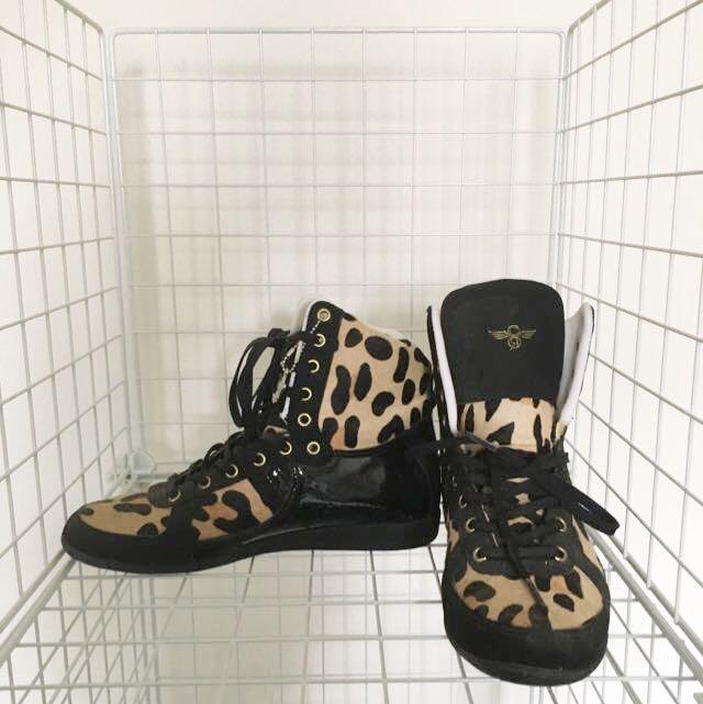 Leopard Print Sneaker Shoes
