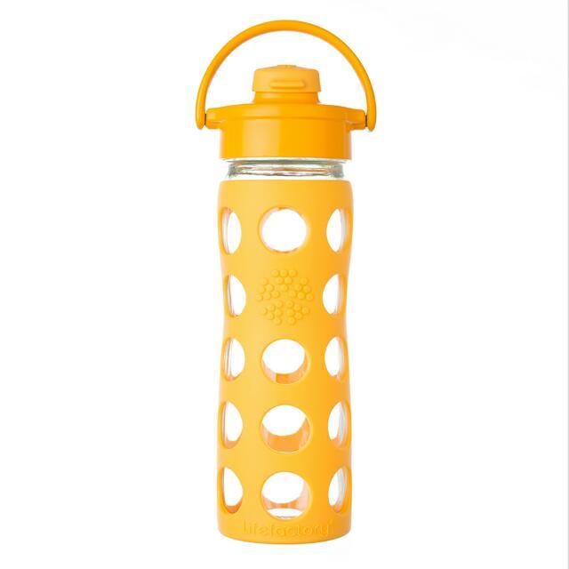 Life factory 16 oz (475 ml) Flip Cap Glass Bottles.