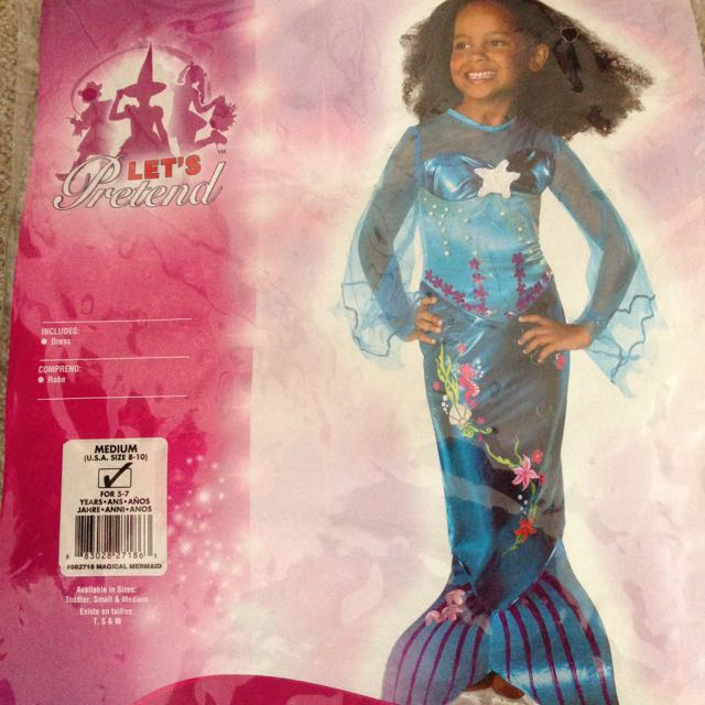Mermaid Hallowe'en  Costume Size M Like New