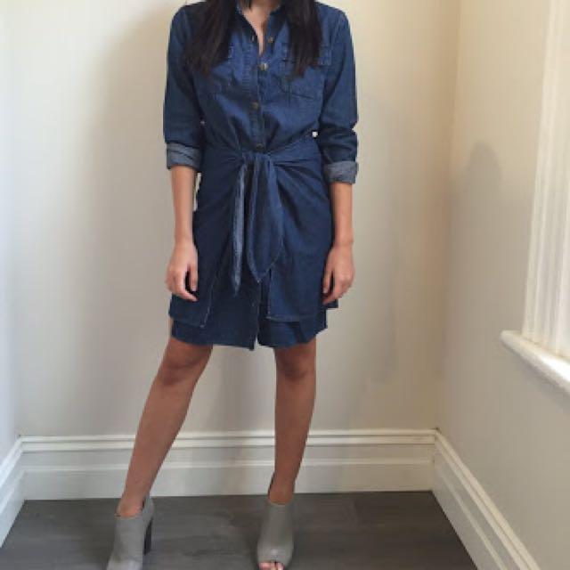 Minkpink Denim Shirt Dress