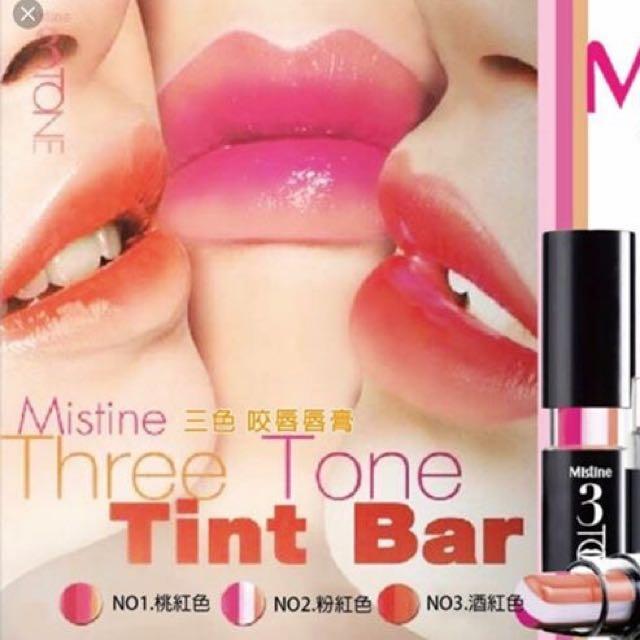 Mistine 3 Tint Bar - 01 Red, 02 Pink, 03 Orange