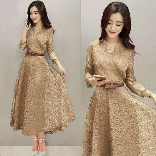 Mocca Lace Dress