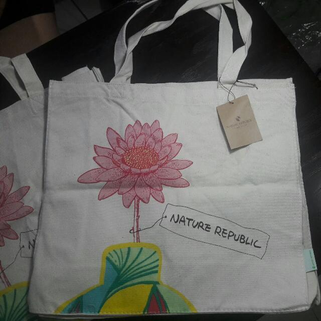 Nature Republic Canvas Tote Bag