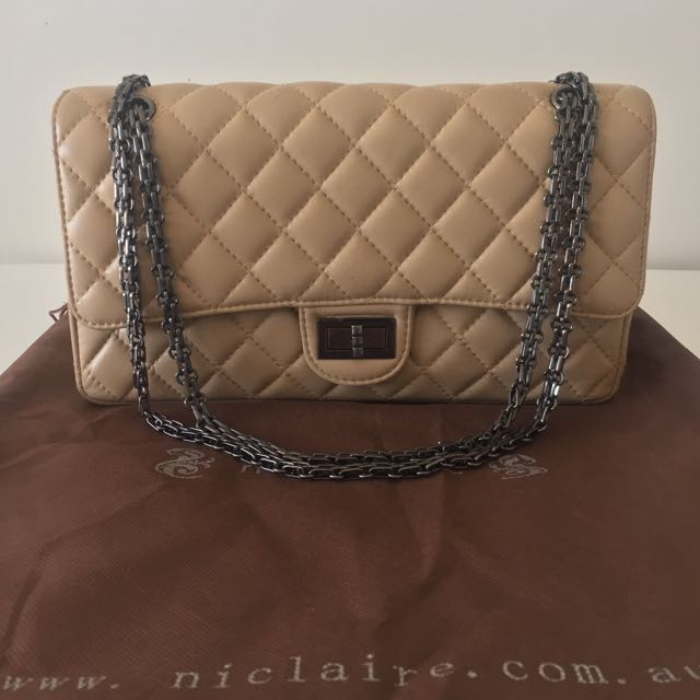 Niclaire Vintage Girl Quilted Handbag