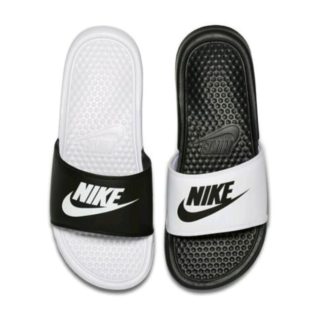 Nike Benassi JDI Mismatch 女 黑 白 情侶款 陰陽拖鞋 拖鞋