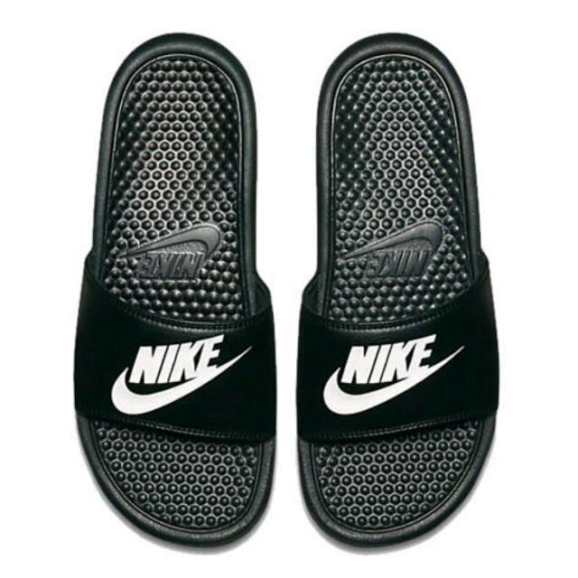 Nike Benassi JDI Slide 男 女 黑 白 情侶款 海綿拖鞋 拖鞋