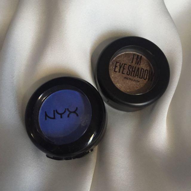 Nyx And Meme Box Eyeshadows