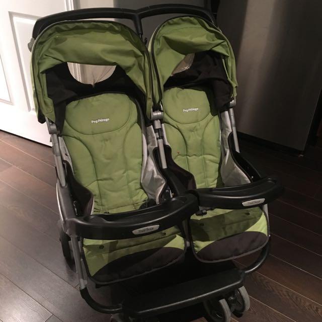 Peg Perego Aria Kiwi Twin / Double Stroller