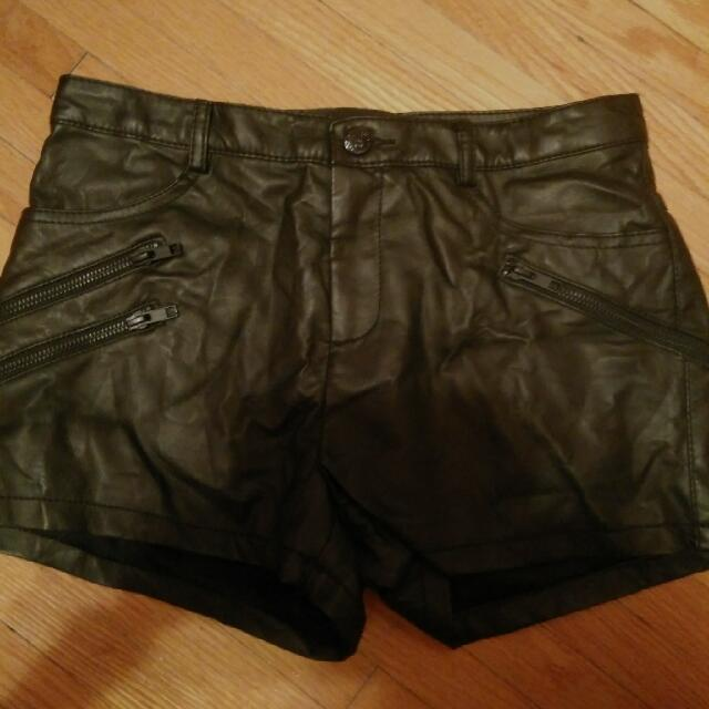 Pleather GUESS shorts NWOT