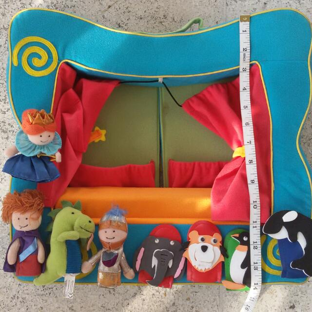 Puppet Theater With Finger Puppets