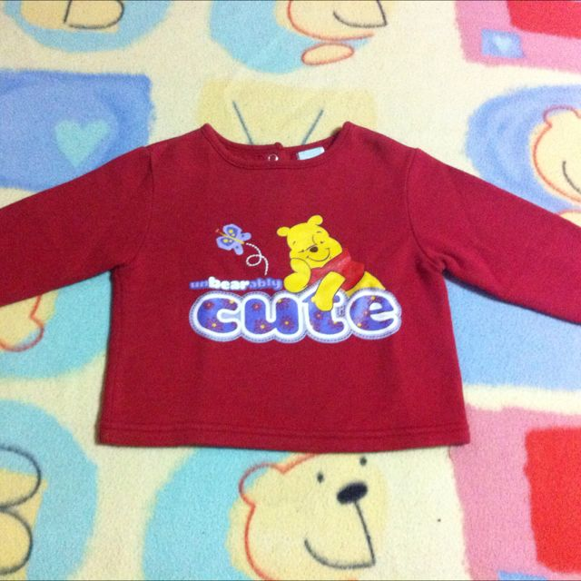 Red Winnie The Pooh Sweater