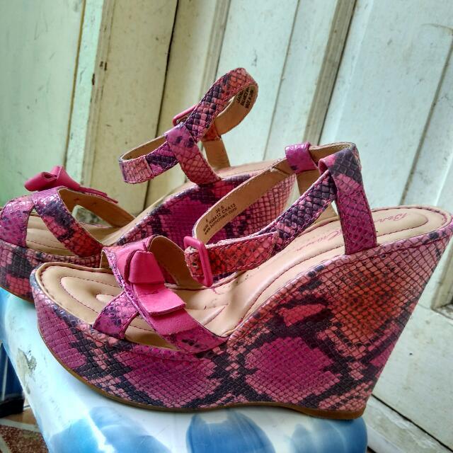 Sepatu Sendal Born Brown Pink Snake