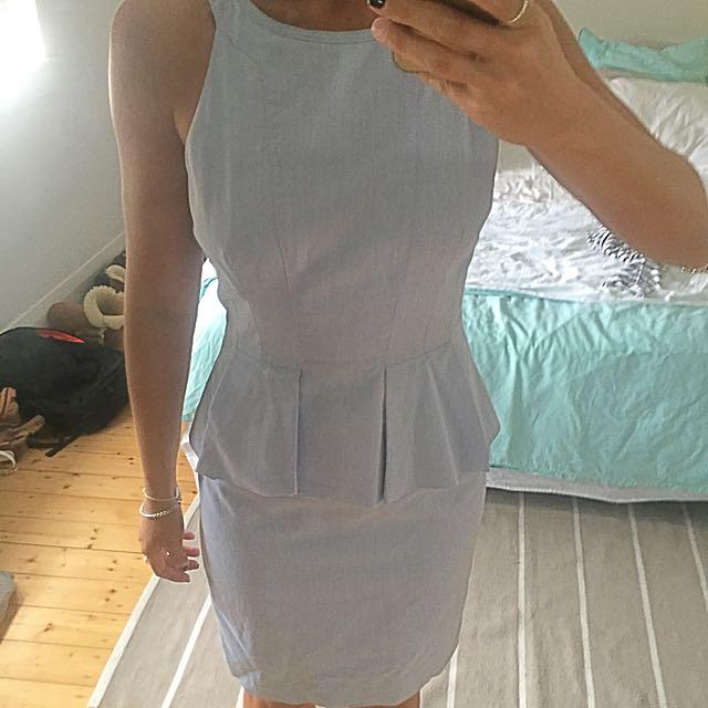 Sheike Knee Length Denim Style Dress