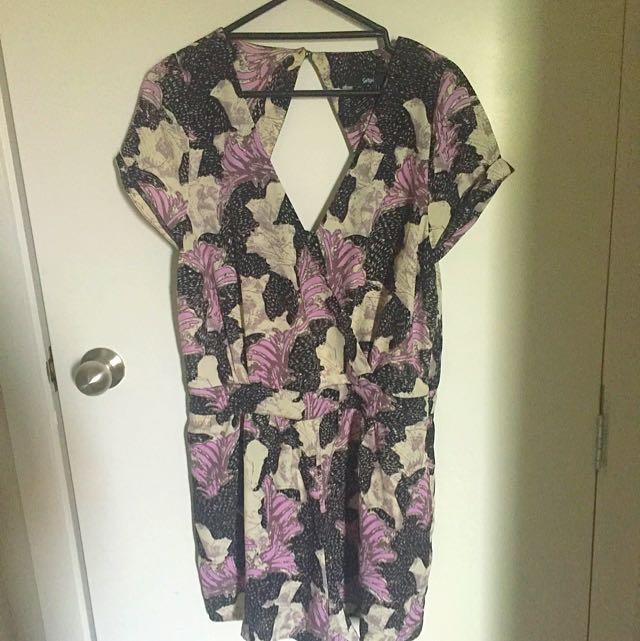Size 14 Sportsgirl Floral Romper/Playsuit