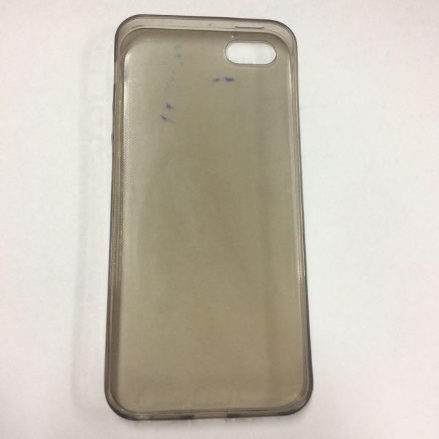 soft case iphone 5/5S transparan grey