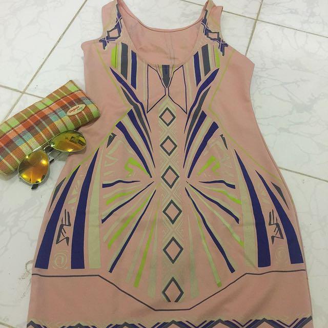 Bodycon Peach Dress