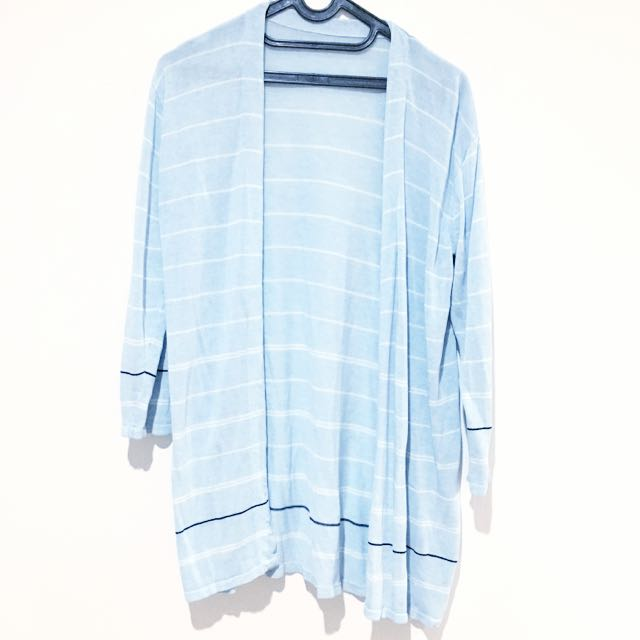 Stripes Blue Knit Cardi