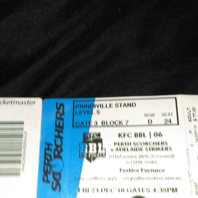 Two Tickets For Bbl