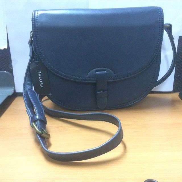 (reprice) zalora dark blue bag