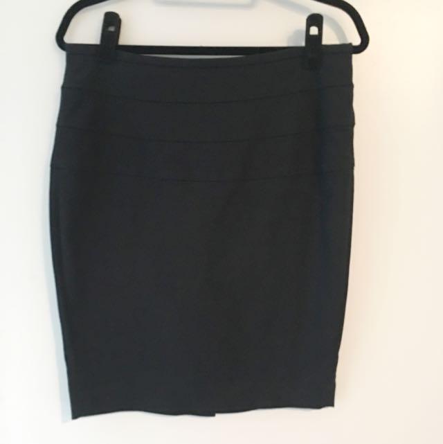 Zara High-Waisted Black Skirt