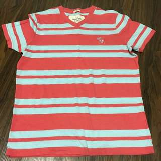 Abercrombie & Fitch Stripes Men's Tee V Neck