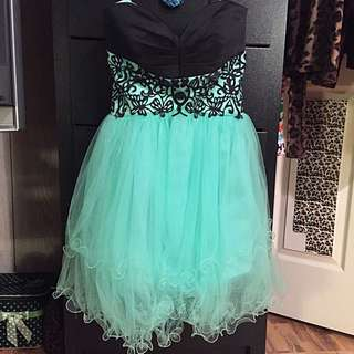 Turquoise Grad/Prom Dress