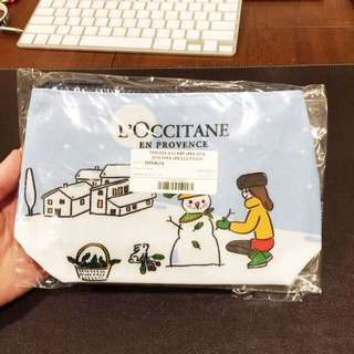 🚚 全新【L'OCCITANE】。歐舒丹化妝包(搭配任何一項商品一起購買,此商品只要59元)