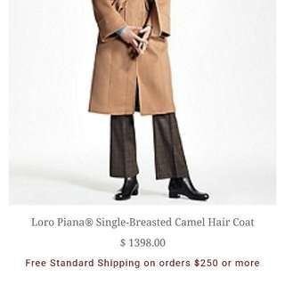 BROOKS BROTHER CAMEL HAIR COAT