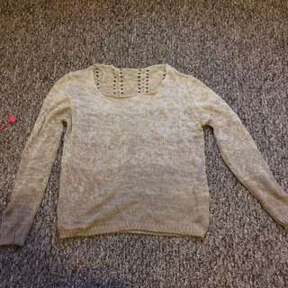 Garage light brown long sleeved shirt/sweater