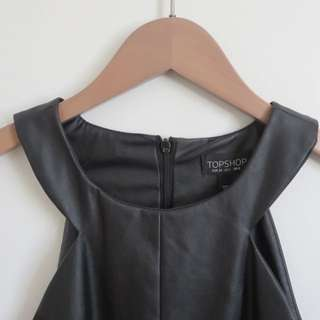 Topshop Leather Tank Top