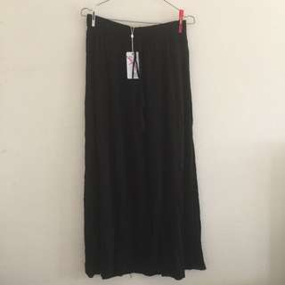 Supre Black Tori Tie Maxi Skirt Size 10