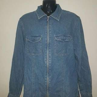 Denim Zipper Jacket