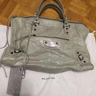 """Reserved""Grey Balenciaga Work Bag"