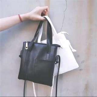 白色文青隨身包包