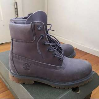 Women's Grey Timberlands