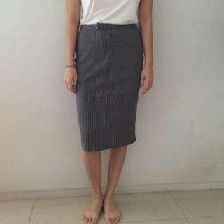 Mphosis Grey Pencil Skirt