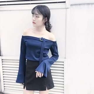 Korean Ring Off Shoulder Top